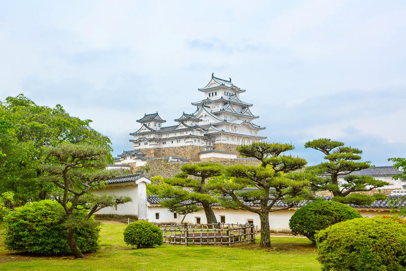 Hoofdtoren van het Kasteel van Himeji in Japan stock foto