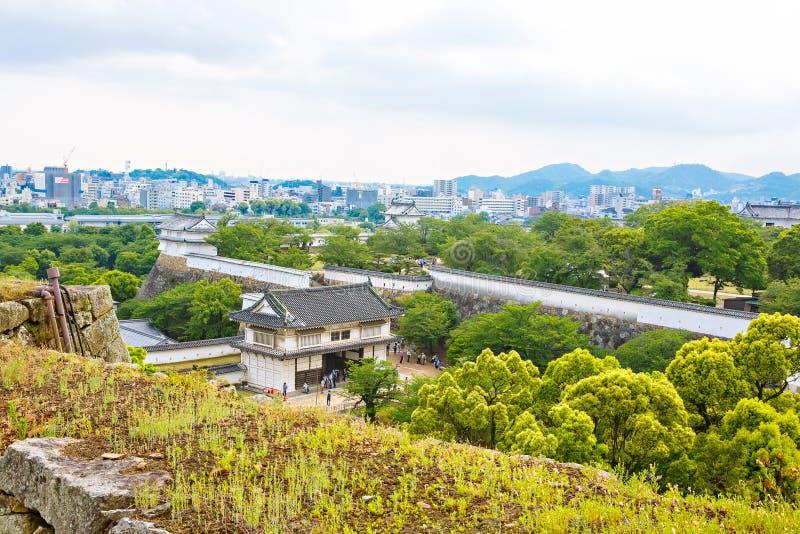 Hoofdtoren van het Kasteel van Himeji in Japan royalty-vrije stock afbeelding