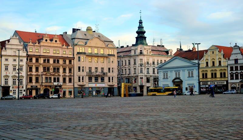 Hoofdvierkant, Pilsen, Tsjechische Republiek stock foto