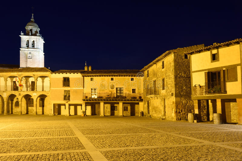 Hoofdvierkant van Medinaceli, Soria provincie, stock foto's