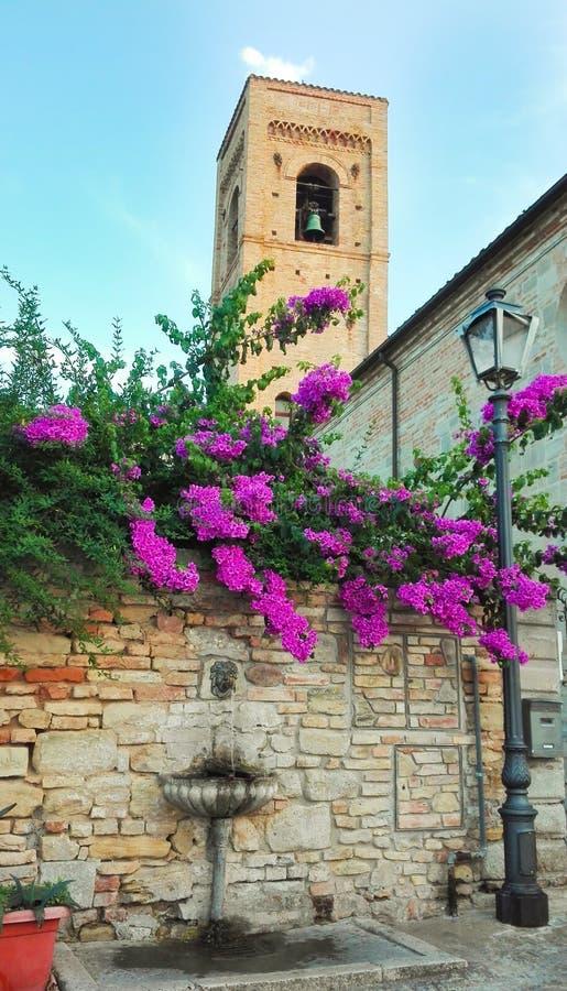 Hoofdvierkant van Torre Di Palme stock afbeeldingen
