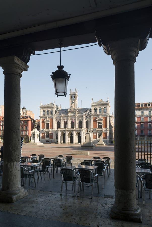 Hoofdvierkant van Valladolid, Spanje Kapitaal van Autonome Comm royalty-vrije stock foto