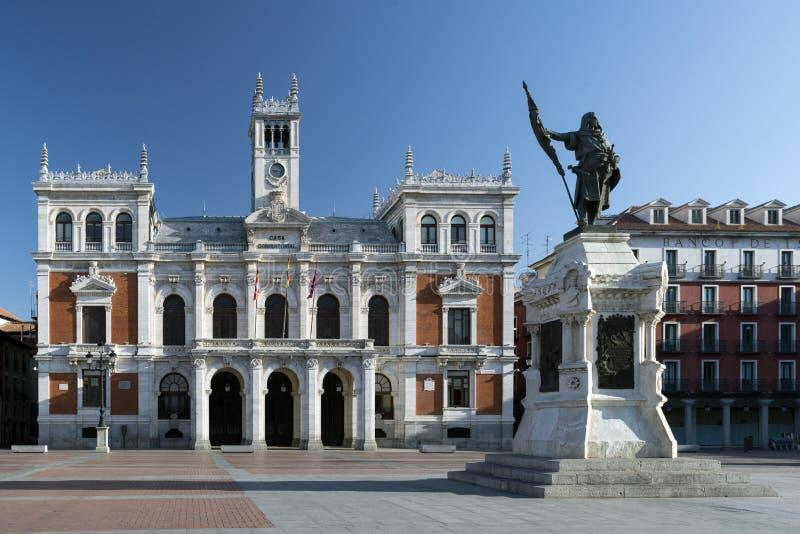 Hoofdvierkant van Valladolid, Spanje Kapitaal van Autonome Comm royalty-vrije stock afbeelding