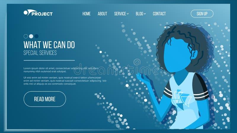 HoofdWeb-pagina Ontwerpvector Bedrijfs concept Werkend Team Beeldverhaalmensen Wolkenzaal Illustratie stock illustratie