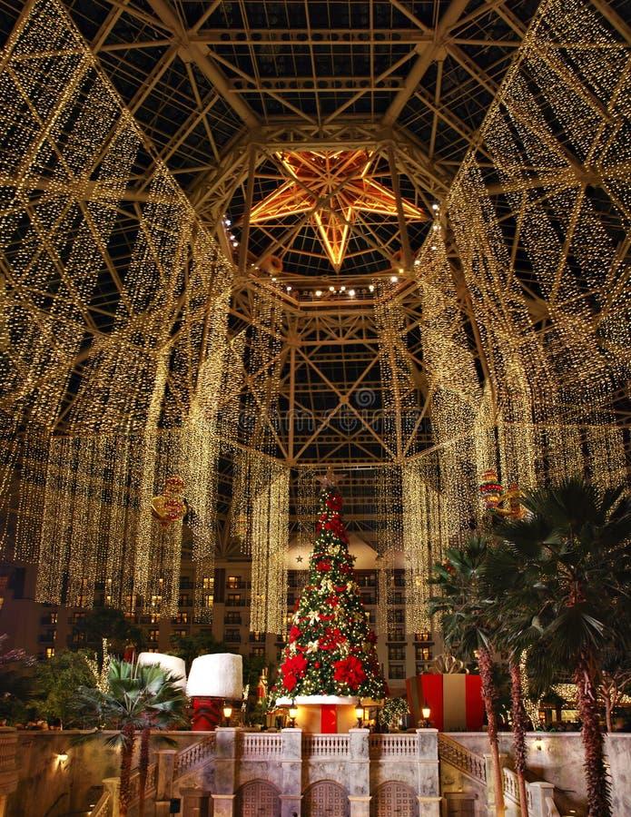 Hoofdzaal in Gaylord Texan Resort, Wijnstok, Texas, de V.S. 7 december, 2012 stock foto's