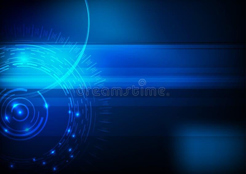 Hoog blauw - de achtergrond van de technologiecomputer stock illustratie
