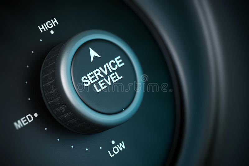 Hoog de dienstniveau royalty-vrije illustratie
