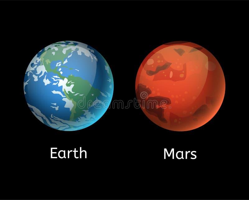 Hoog - de kwaliteit brengt van de astronomieaardwetenschappen van de planeetmelkweg van de de bolbaan de ster vectorillustratie i stock illustratie