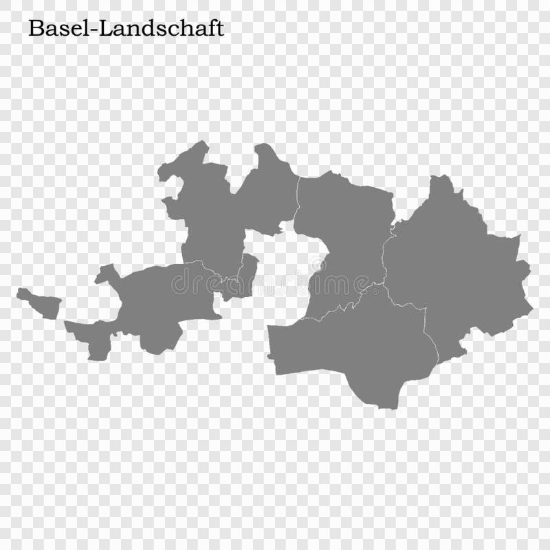 Hoog - de kwaliteitskaart is een kanton van Zwitserland stock illustratie