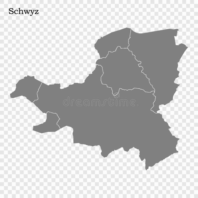 Hoog - de kwaliteitskaart is een kanton van Zwitserland vector illustratie