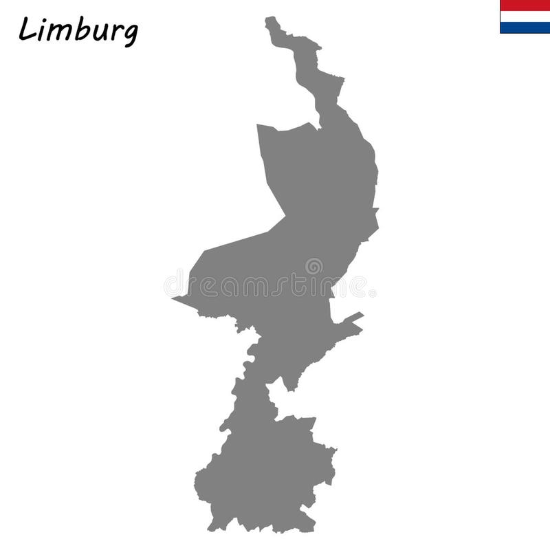 Hoog - de provincie van de kwaliteitskaart van Nederland stock illustratie