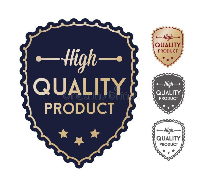 Hoog - de reeksetiketten van het kwaliteitsproduct vector illustratie