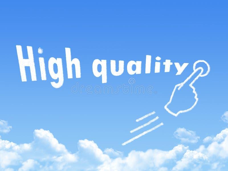 Hoog - de wolkenvorm van het kwaliteitsbericht royalty-vrije illustratie