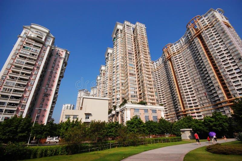 Hoog - dichtheids residental flats royalty-vrije stock afbeeldingen