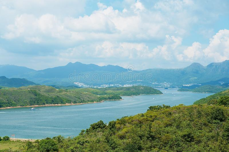 Hoog Eilandreservoir en Hong Kong Global Geo Park van China in Hong Kong, China royalty-vrije stock afbeelding