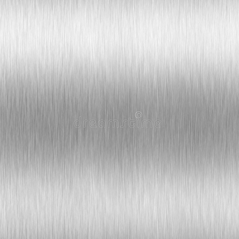 Hoog Geborsteld Aluminium vector illustratie