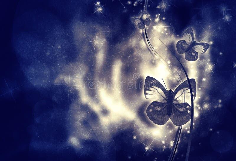 Hoog gedetailleerde grunge abstracte bloemenachtergrond stock illustratie