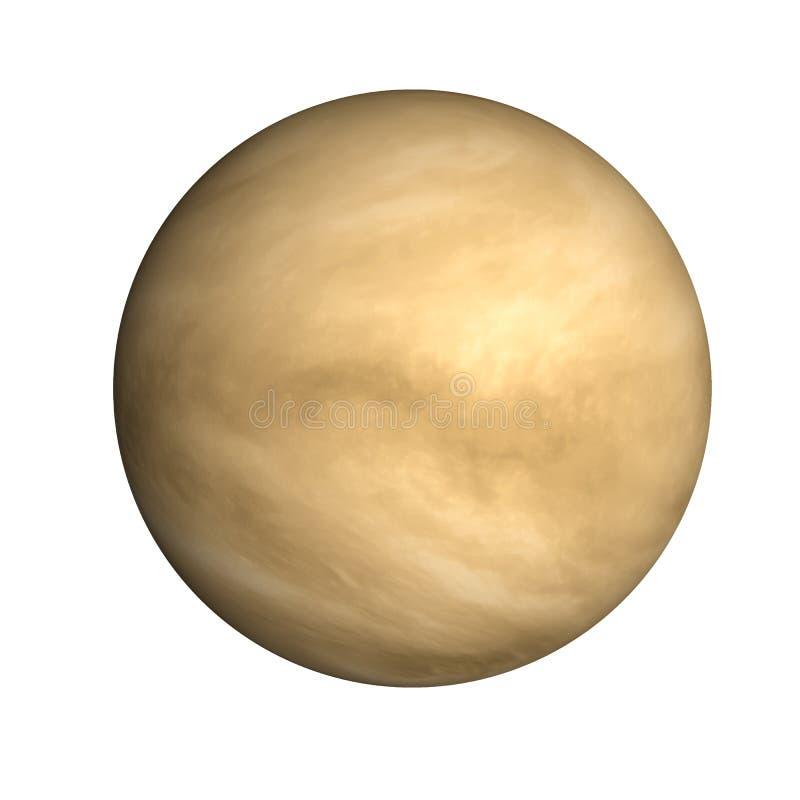 Hoog gedetailleerde Venusplaneet van ge?soleerd zonnestelsel royalty-vrije stock afbeeldingen