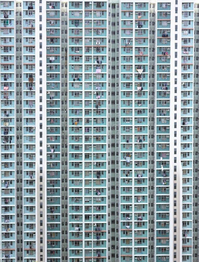 Hoog Hong Kong - dichtheidshuisvesting royalty-vrije stock foto's