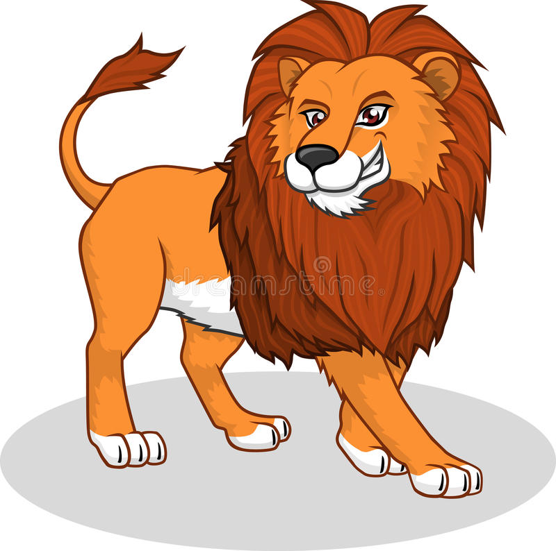 Hoog - kwaliteit Lion Vector Cartoon Illustration stock illustratie