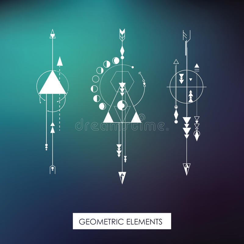 Hoog - kwaliteits geometrisch element Heilige Meetkunde royalty-vrije illustratie