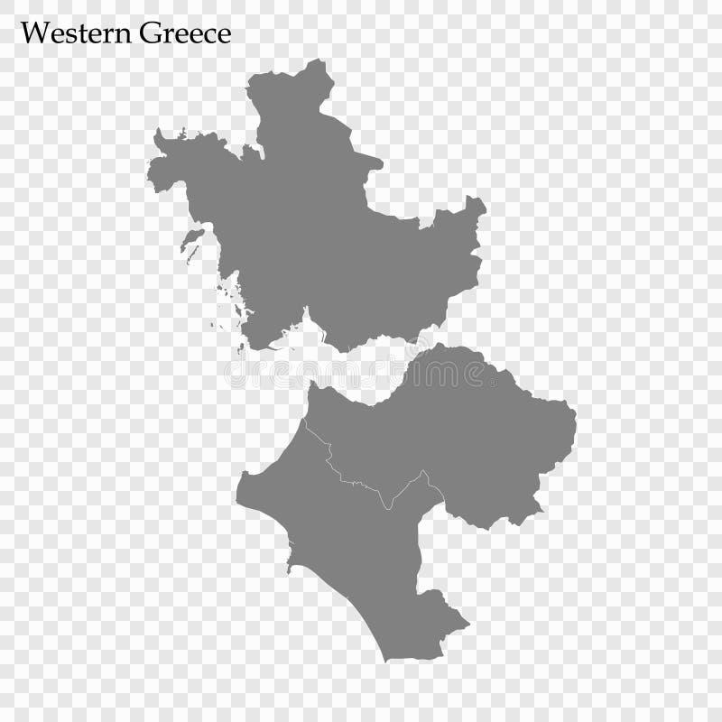 Hoog - kwaliteitskaart van gebied van Griekenland royalty-vrije illustratie