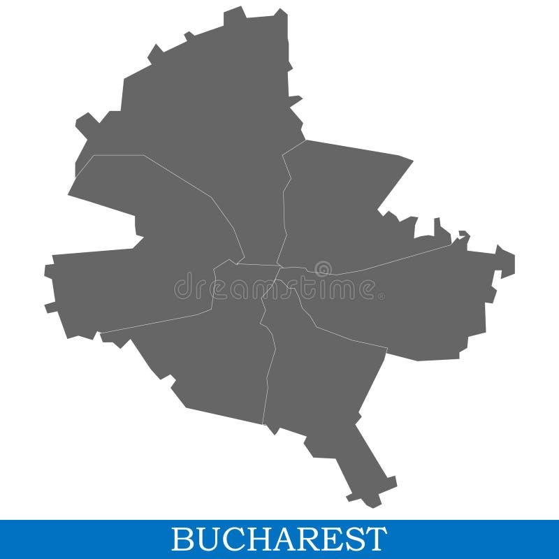 Hoog - kwaliteitskaart van stad vector illustratie