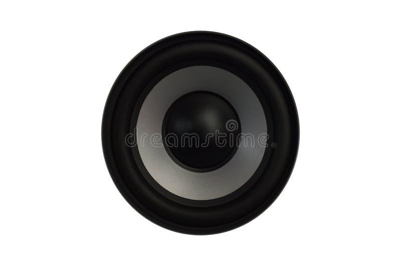 Hoog - kwaliteitsluidsprekers Hallo het correcte systeem van FI in winkel voor geluidsopnamestudio De professionele hifidoos van  royalty-vrije stock afbeeldingen