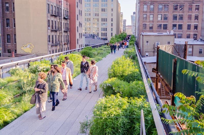 Hoog Lijnpark de Stad in van Uit het stadscentrum Manhattan, New York, de V.S. royalty-vrije stock afbeelding