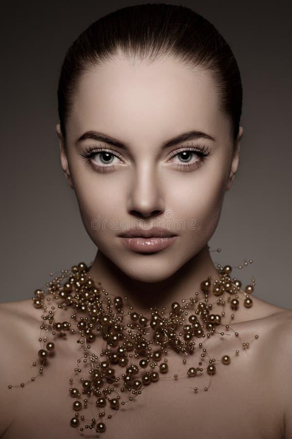 Hoog-manier ModelGirl Van de maniervogue van de schoonheidsvrouw de hoge Stijl P royalty-vrije stock foto's