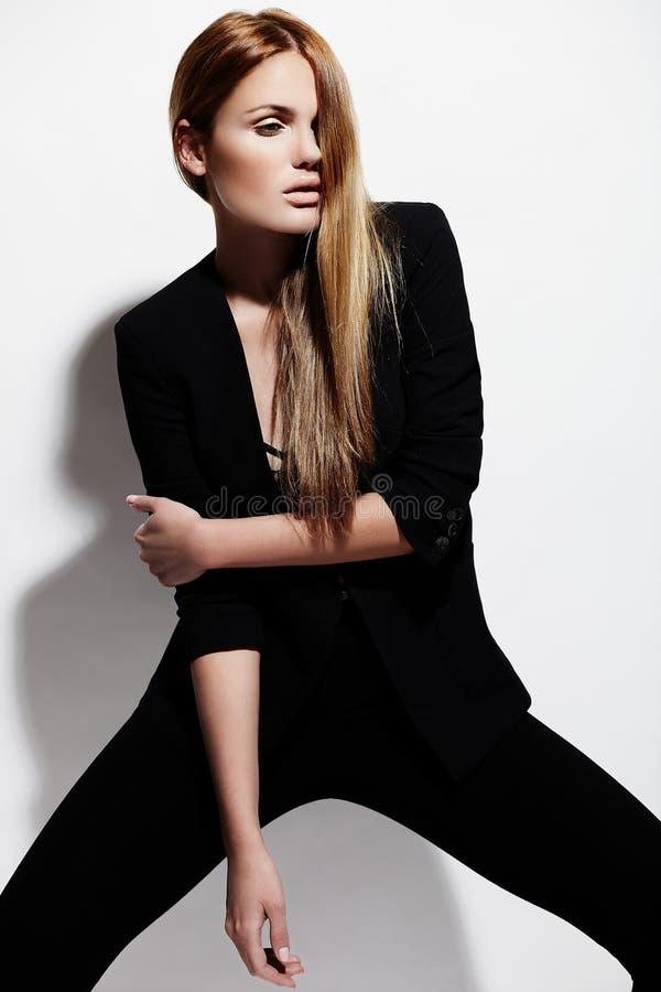 Sexy modieus Kaukasisch jong model royalty-vrije stock foto