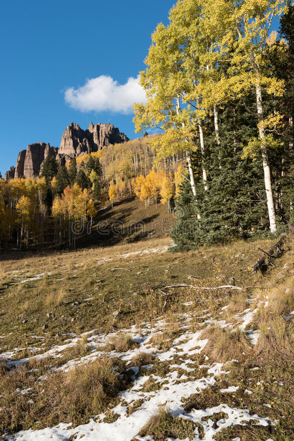 Hoog Mesa Pinnacles in Cimarron-Vallei Colorado royalty-vrije stock fotografie