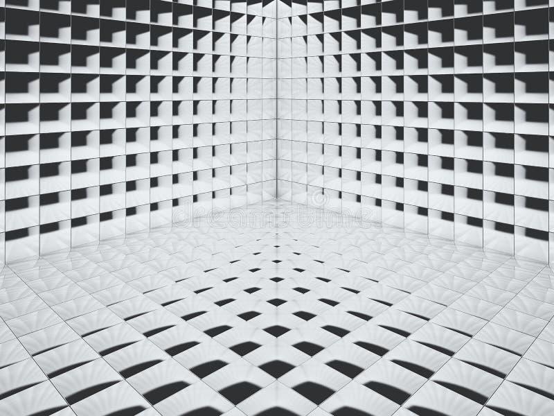 Hoog polijst het kleine de hoek van de tegelvloer 3D teruggeven - Illustratie royalty-vrije illustratie