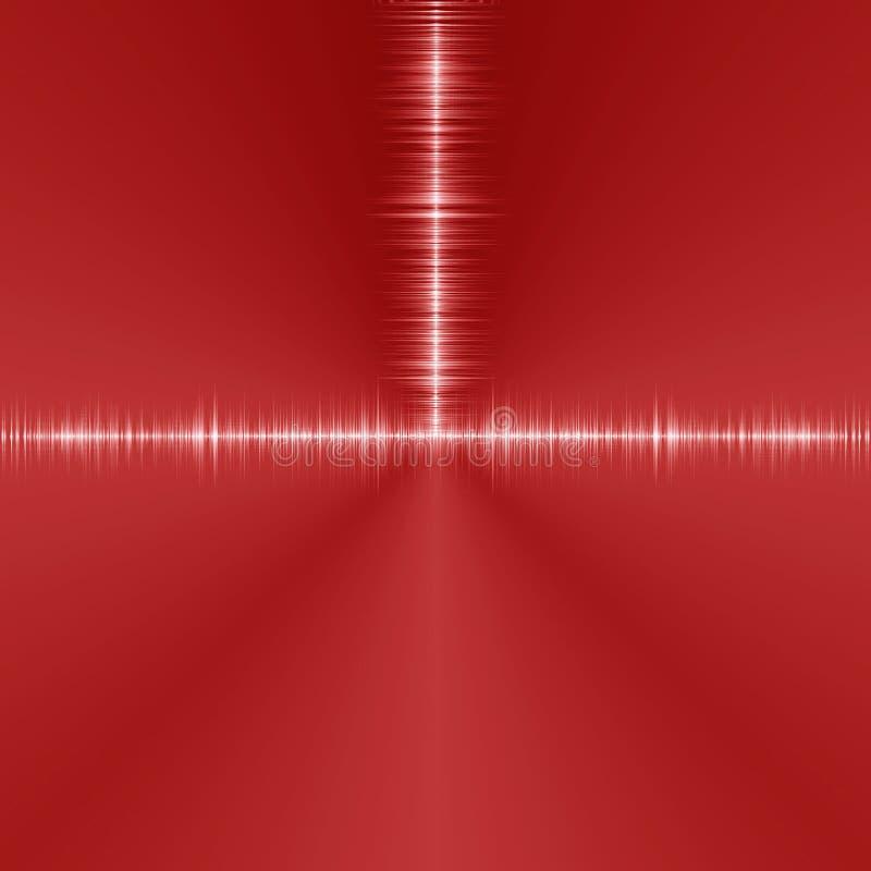 hoog rood - de achtergrond van de technologietunnel vector illustratie
