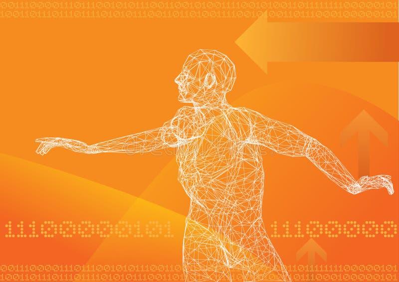 Hoog - technologie- mededeling royalty-vrije illustratie
