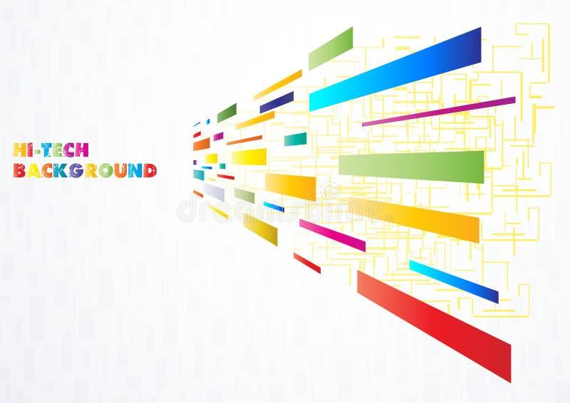 Hoog - technologie Multi-coloured achtergrond stock illustratie
