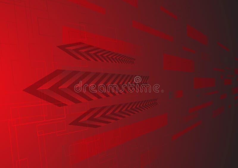 Hoog - technologie rode achtergrond royalty-vrije illustratie