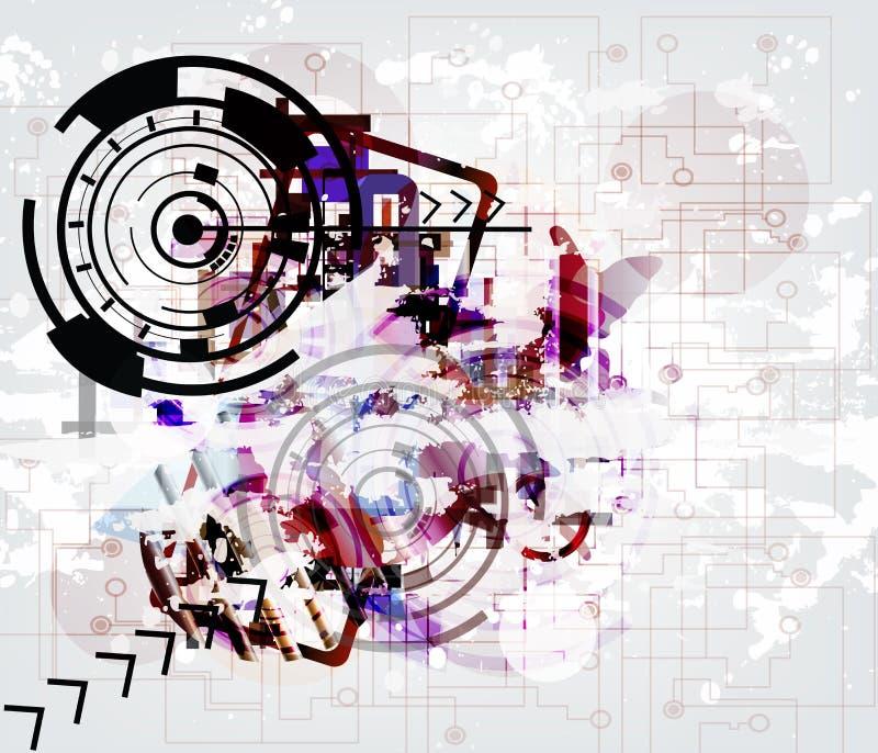 Hoog - technologie technologic achtergrond stock illustratie