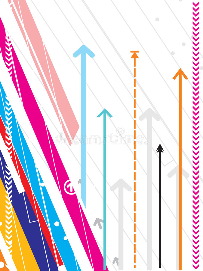 Hoog - technologie vectorreeks als achtergrond met pijldetail royalty-vrije illustratie