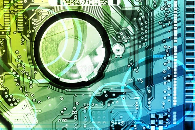 Hoog - technologieAchtergrond royalty-vrije illustratie