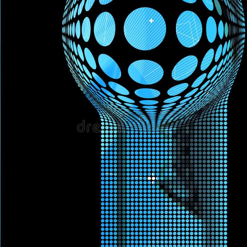 Hoog - technologieachtergrond. vector illustratie