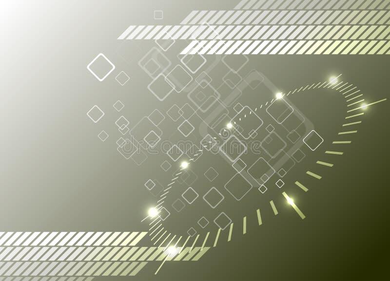 Hoog - technologieachtergrond. Vector Illustratie vector illustratie