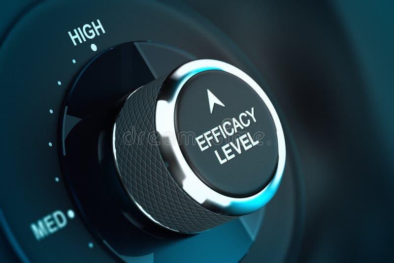 Hoog Zelfdoeltreffendheidsniveau - Efficiencydoelstelling stock illustratie