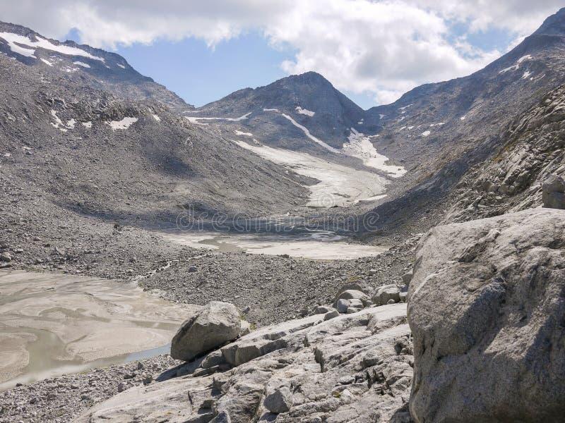 Hooggebergte in Valle Aurina stock afbeeldingen