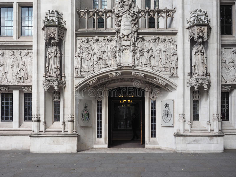 Hooggerechtshof in Londen stock afbeelding