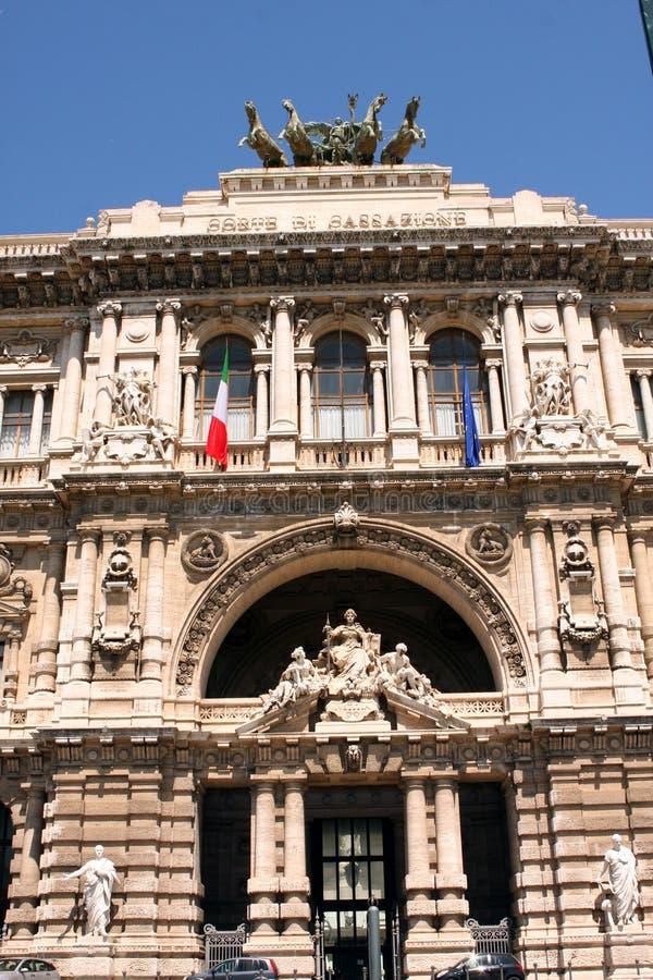 Hooggerechtshof van Rechtvaardigheid Rome Italy stock fotografie