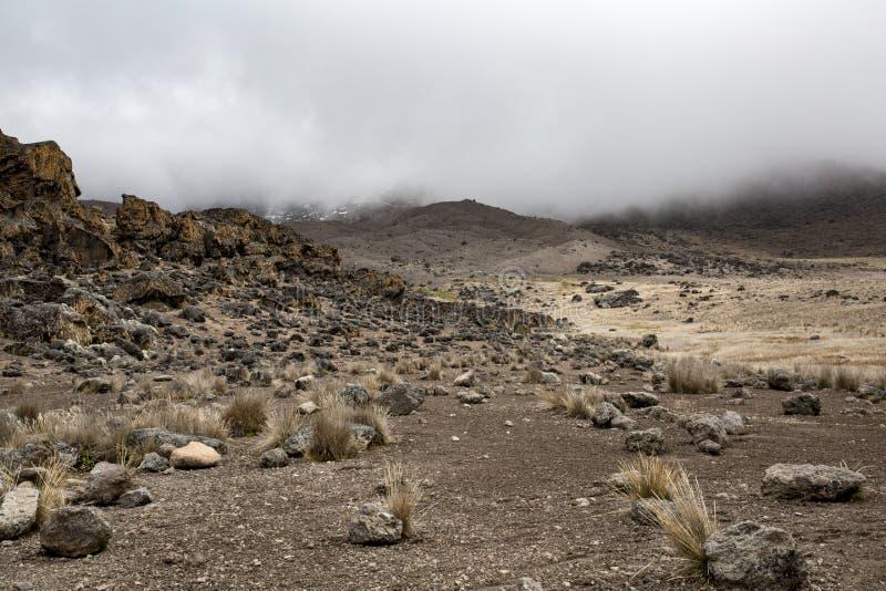 Hooglanden Kilimanjaro royalty-vrije stock afbeeldingen