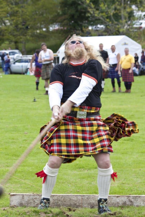 Hooglandspelen Schotland royalty-vrije stock fotografie