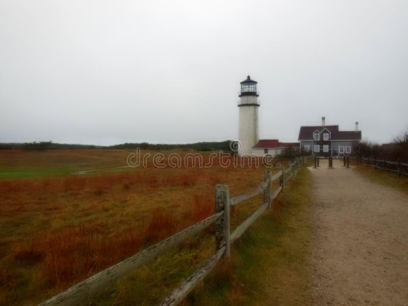 Hooglandvuurtoren, Cape Cod, Massachusetts, de V.S. royalty-vrije stock foto