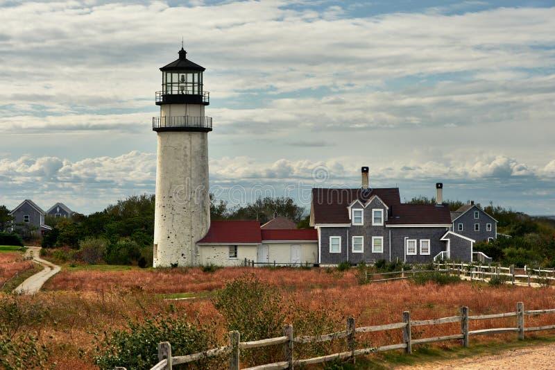 Hooglandvuurtoren in Cape Cod, in 1797 wordt gebouwd die royalty-vrije stock afbeelding